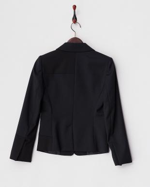 ネイビー×ブラック CELEBRE 配色切り替えジャケット見る