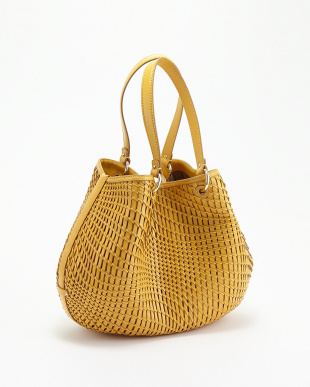WOODBURY  GENEVIEVE OPEN WEAVE SMALL TOTE見る