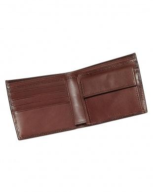 チョコレート   レザー コイン入れ付き2つ折り財布見る