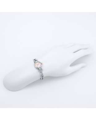シルバー Pinky Heart 3つ折れバックル 腕時計見る