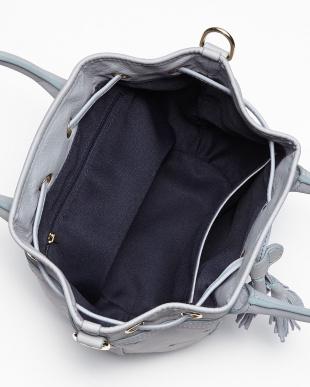ライトブルー  スターパンチング 巾着バッグ見る