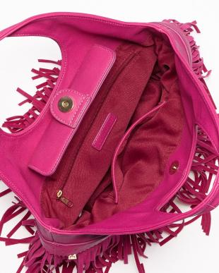 ピンク  フリンジハンドバッグ見る