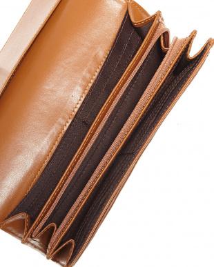 ブラウン  パッチワーククロコダイル かぶせ式長財布見る