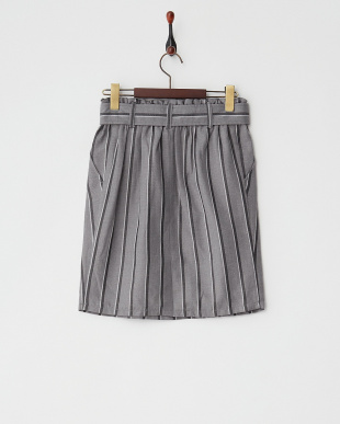 グレー レジメンタルストライプTRタイトスカート見る