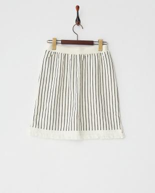 アイボリー  フリンジタイトスカート見る