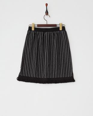 ブラック  フリンジタイトスカート見る