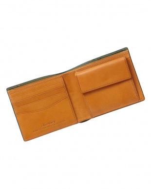 バーガンディ  ホーウィン社製シェルコードバン二つ折り財布見る