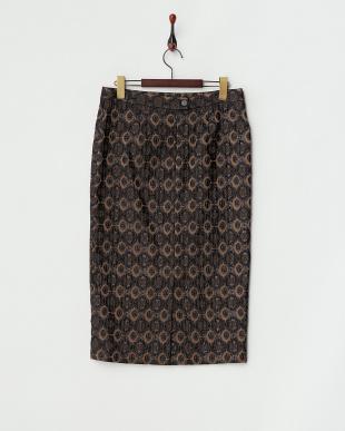 ベージュ×ブラック CESELLO Skirt見る