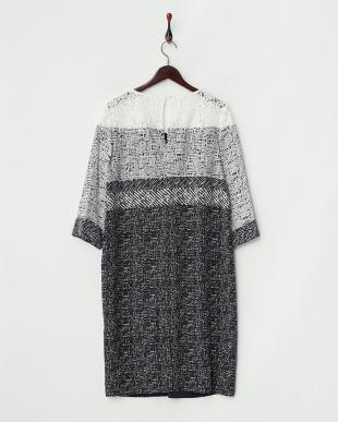 ホワイト×ネイビー DEFILE Dress・シルク見る