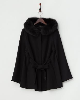 ブラック  NUOTO Short Coat・フォックスファー見る