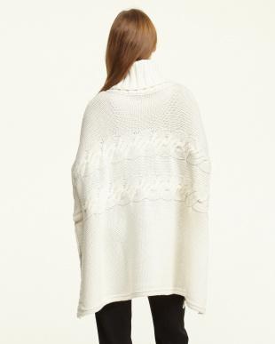 ホワイト  ADAMO Knitted shawl・ポンチョ見る