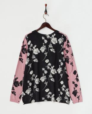 ピンク×ブラック系  MALVA Knitted Jacket見る