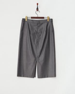 グレー  CERQUA Skirt・シルク混見る