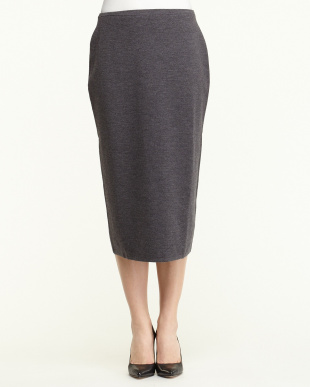 DARK GREY GENTILE Knitted Skirt見る