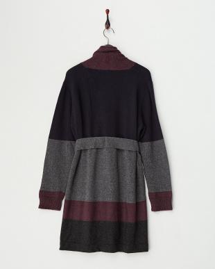 DARK GREY MANTEGNA Knitted Jacket・オープンフロント見る