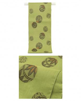 ライトグレー系 ユニーク格子柄 紬織プレタ2点セット見る