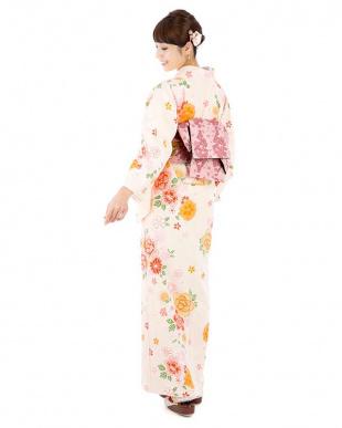 トリノコイロ 桜+菊着物&帯2点セット見る