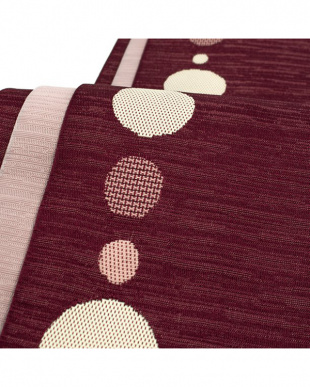 ワイン系&ピンク系  ドット&縞 両面小袋帯見る