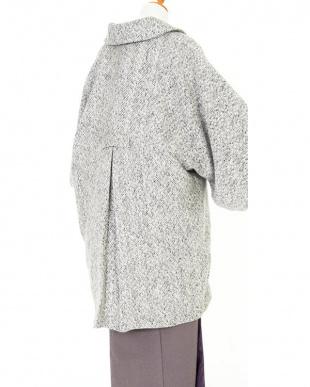 ホワイト系  ヘリンボーン 着物コート見る