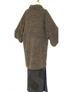 ブラウン系  濃淡 ロング丈着物コート見る