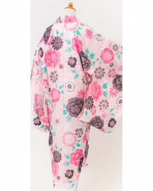 ピンク系  花&桜の花びら こども用長襦袢見る