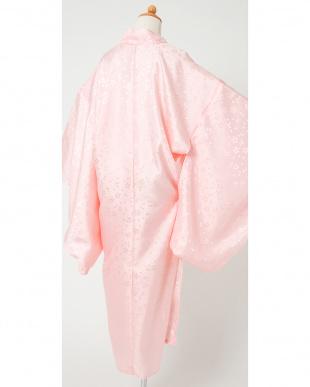 ピンク系 桜の花びら こども用長襦袢見る