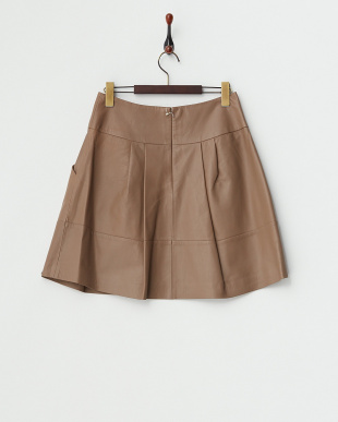 ベージュ  レザースカート見る