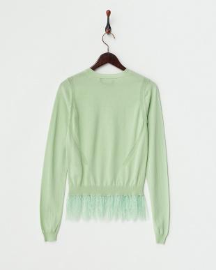 グリーン 婦人セーター見る