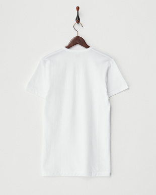 ホワイト Soft&Warm V首半袖Tシャツ見る
