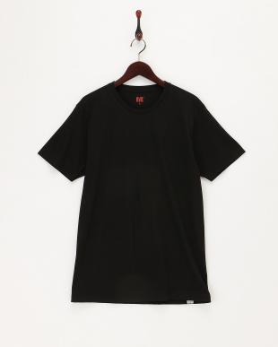 ブラック  クルーネックTシャツ2枚組見る