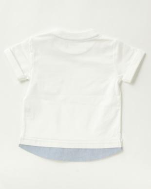 ホワイト  男児 裾レイヤード風Tシャツ|BABY見る