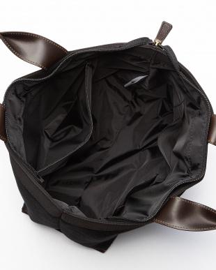 Black  ウール×レザー トートバッグ見る