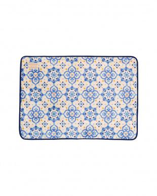 ブルー  モロッカン ブランケット 70×100cm見る