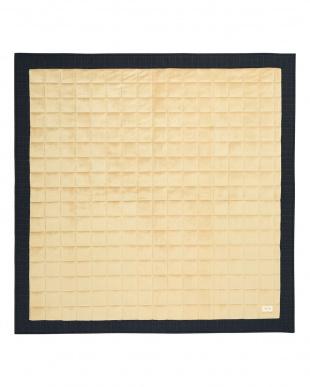 ブラック  Fam casa キルトラグ 185×185見る