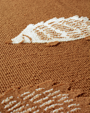 ブラウン ハリネズミ柄タフトラグ 130×180見る