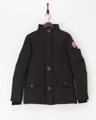 ブラック  中綿入りジャケット見る