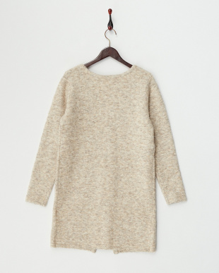 Ivory  Long Knit Cardigan見る