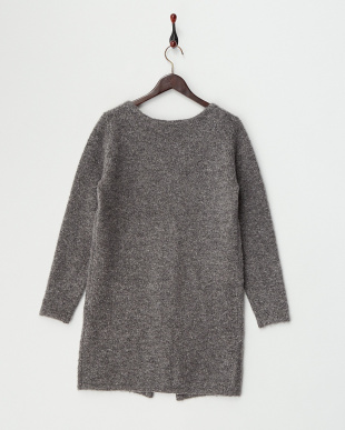 Gray  Long Knit Cardigan見る