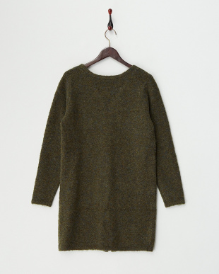 Olive  Long Knit Cardigan見る