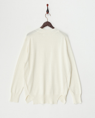 O/White  Cotton Cashmere Round Hem Knit見る