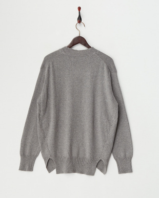 M/Gray  Cotton Cashmere Round Hem Knit見る
