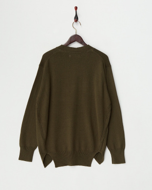 Khaki  Cotton Cashmere Round Hem Knit見る