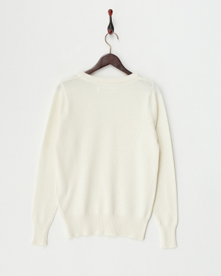 O/White  Cotton Cashmere Vneck Knit見る
