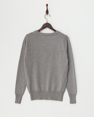 M/Gray  Cotton Cashmere Vneck Knit見る