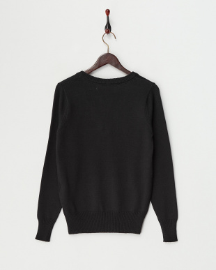 Black  Cotton Cashmere Vneck Knit見る
