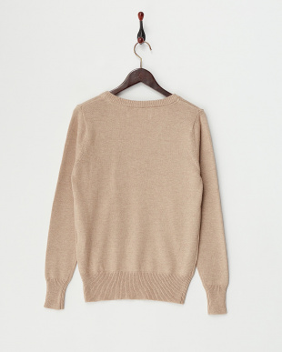 Beige  Cotton Cashmere Vneck Knit見る
