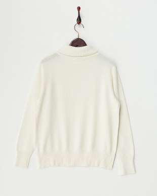 O/White  Cotton Cashmere Turtle Neck Knit見る