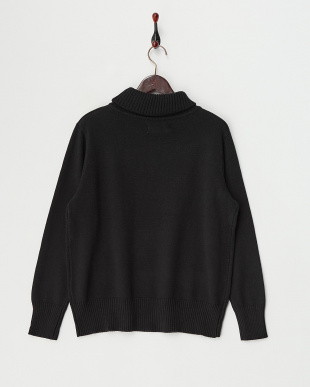 Black  Cotton Cashmere Turtle Neck Knit見る