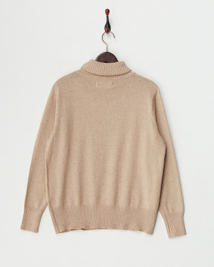 Beige  Cotton Cashmere Turtle Neck Knit見る