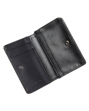 ブラック  フラップ型押しコイン&カードケース見る